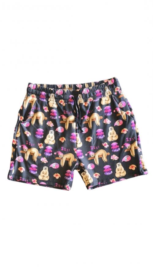 Snoring Sloths Printed Jogger Shorts