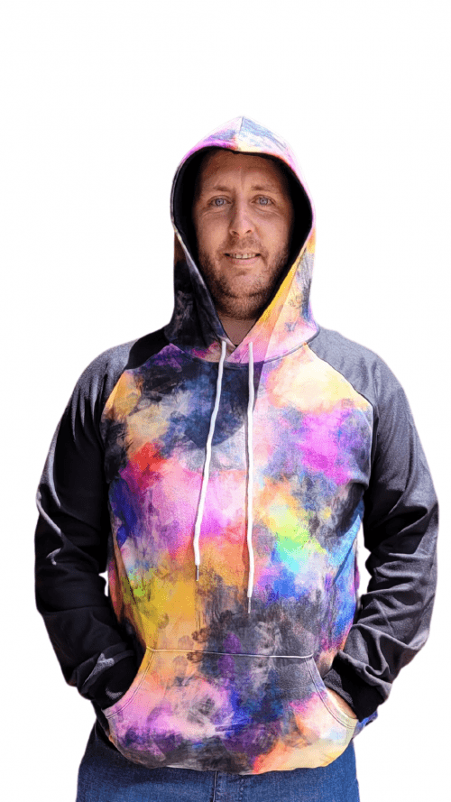 Colour Run Splash with Black Sleeves Printed Hoodie1