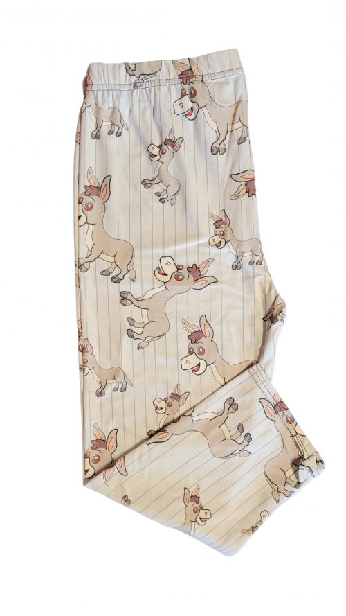 Donkey Style Printed Capri Length Regular Band Leggings