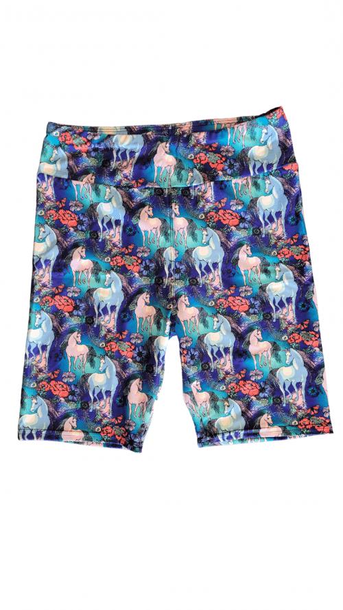 Graceful Unicorns Yoga Band Printed Bike Shorts