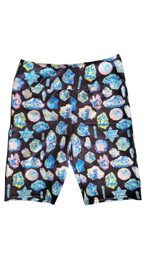 Blue Stone Yoga Band Printed Bike Shorts