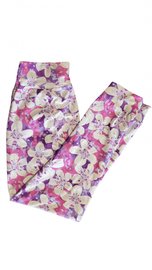 Choice Delicate Bouquet Yoga Band Printed Full Length Joggers