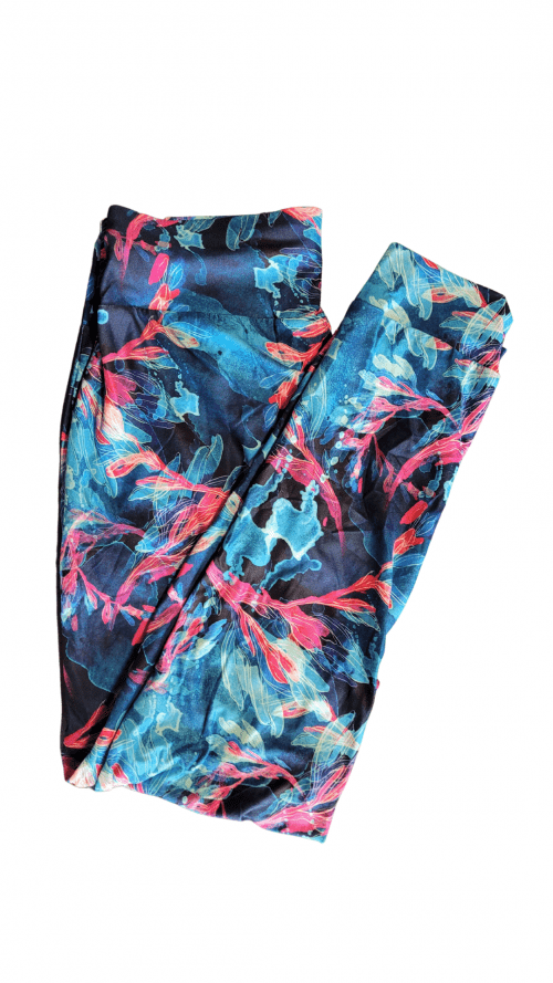 Choice Coral Smoke Yoga Band Printed Full Length Joggers