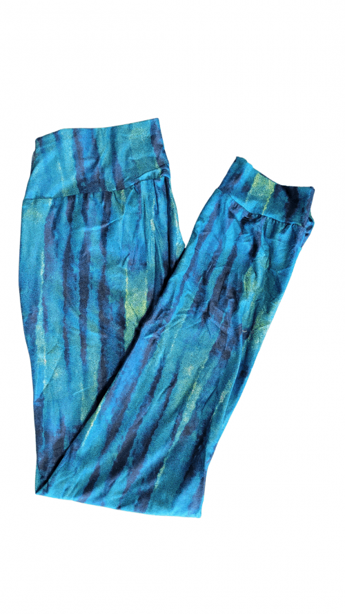 Choice Blue Haze Yoga Band Printed Full Length Joggers