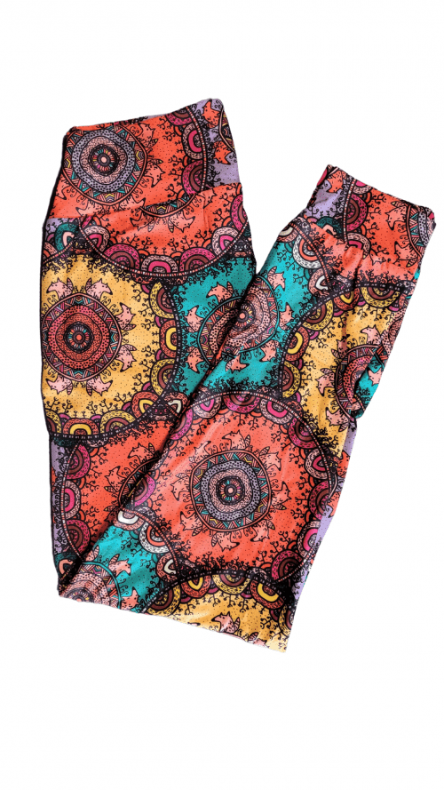 Choice Mandala Fox Yoga Band Printed Full Length Joggers