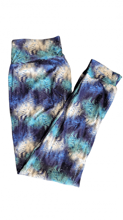 Choice Blue Equalizer Yoga Band Printed Full Length Joggers
