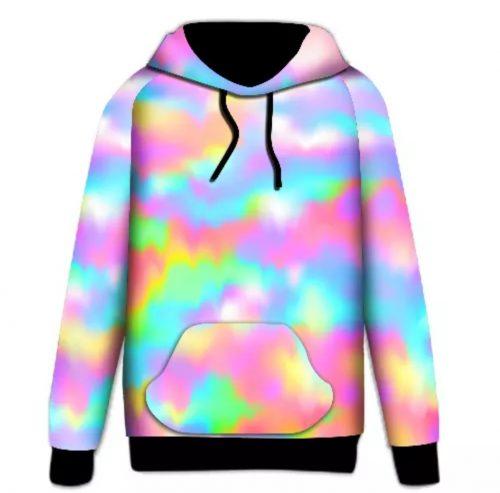 Rainbow Light Sky Printed Hoodie